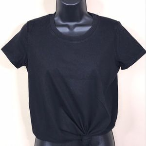 Madewell Tie Front Tee Size XS—B4